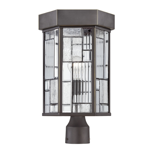 Designers Fountain Lighting Post Light with Clear Glass in Aged Bronze Patina Finish 32136-ABP