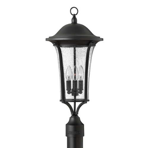 Hinkley Lighting Post Light with Clear Glass in Black Finish 1381BK