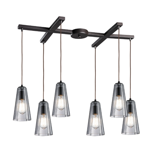 Elk Lighting Multi-Light Pendant Light with Clear Glass and 6-Lights 60048-6