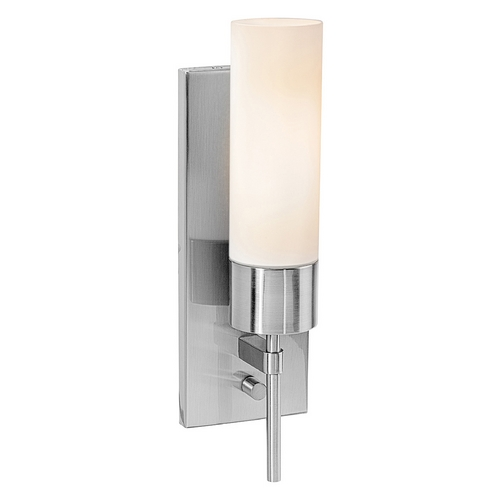 Access Lighting Access Lighting Iron Brushed Steel Sconce C50562BSOPLEN1113BS