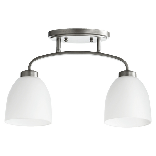 Quorum Lighting Reyes Classic Nickel Semi-Flushmount Light