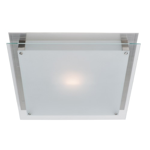 Access Lighting Access Lighting Vision Brushed Steel LED Flushmount Light 50030LEDD-BS/FST