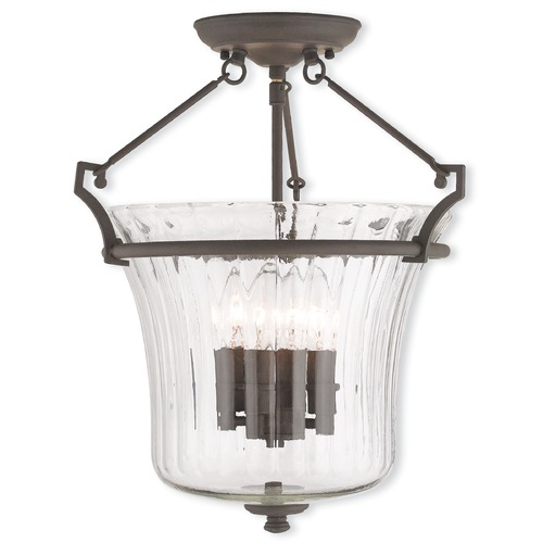 Livex Lighting Livex Lighting Cortland Bronze Semi-Flushmount Light 50925-07