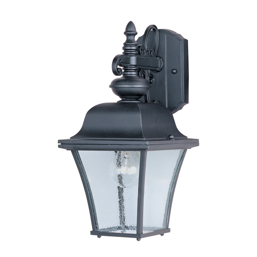 Maxim Lighting Outdoor Wall Light with Clear Glass in Black Finish 1066BK