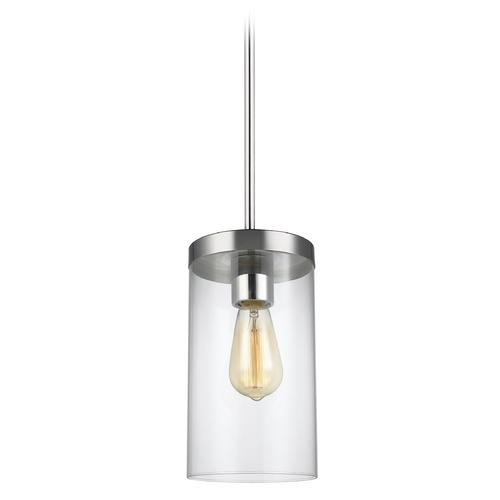 Sea Gull Lighting Sea Gull Lighting Zire Chrome Pendant Light with Cylindrical Shade 6590301-05