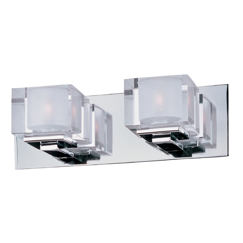 Maxim Lighting Modern Bathroom Light with Clear Glass in Polished Chrome Finish 10002CLPC