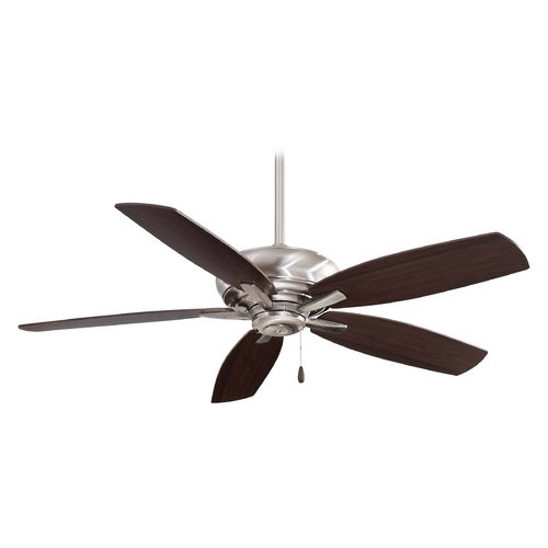 Minka Aire Modern Ceiling Fan Without Light in Pewter Finish F688-PW
