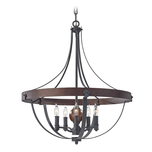 Feiss Lighting Pendant Light in Charcoal / Brick / Acorn Finish F2794/5AF/CBA