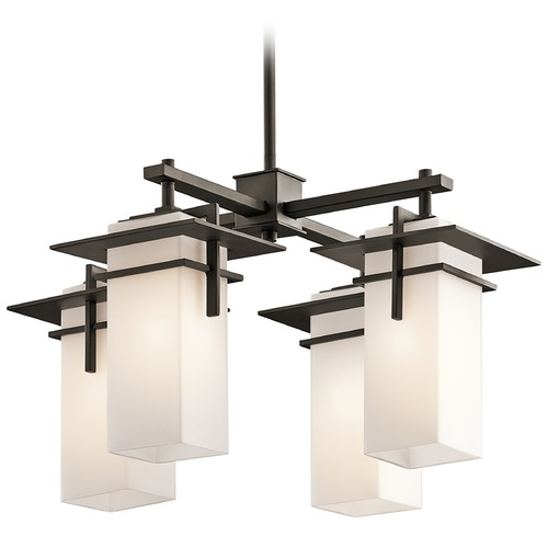 Kichler Lighting Kichler Caterham Four-Light Square Mini-Chandelier 49638OZ