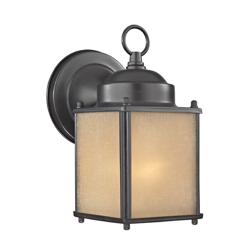 Design Classics Lighting Small Bronze Square Outdoor Wall Light 544 BZ