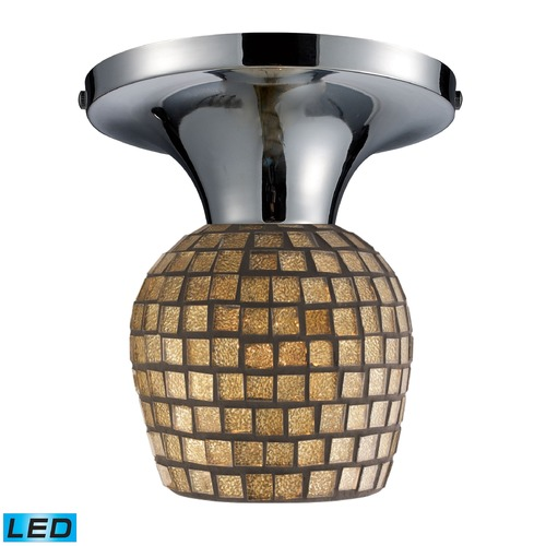 Elk Lighting Elk Lighting Celina Polished Chrome LED Semi-Flushmount Light 10152/1PC-GLD-LED
