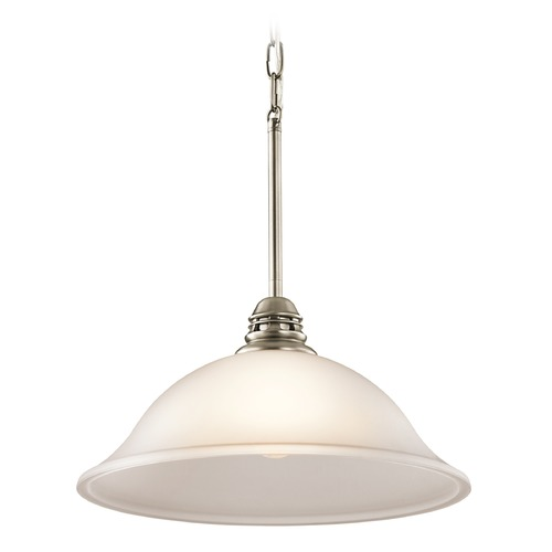 Kichler Lighting Kichler Lighting Stafford Pendant Light with Bowl / Dome Shade 42071APW