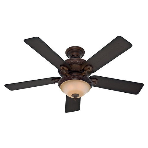 Hunter Fan Company Hunter Fan Company Vernazza Brushed Cocoa Ceiling Fan with Light 53029