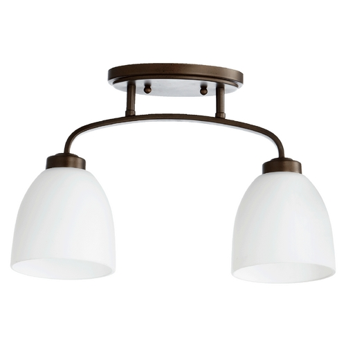Quorum Lighting Quorum Lighting Reyes Oiled Bronze Semi-Flushmount Light 3260-2-86