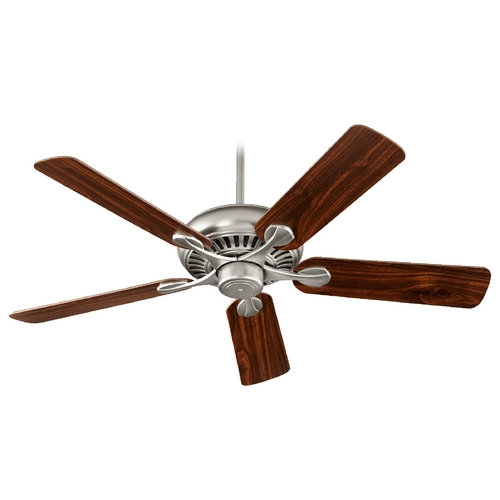 Quorum Lighting Quorum Lighting Pinnacle Satin Nickel Ceiling Fan Without Light 91525-65