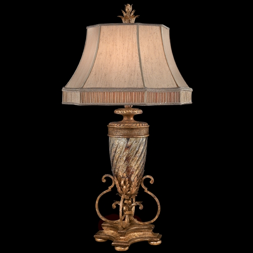 Fine Art Lamps Fine Art Lamps Pastiche Antique Gold Table Lamp with Bell Shade 411310-2ST