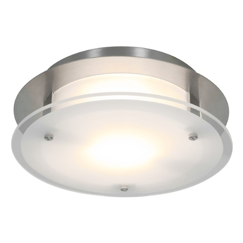 Access Lighting Access Lighting Visionround Brushed Steel LED Flushmount Light 50036LEDD-BS/FST