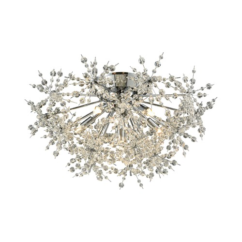 Elk Lighting Elk Lighting Snowburst Polished Chrome Semi-Flushmount Light 11891/6