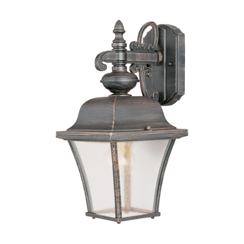 Maxim Lighting Outdoor Wall Light with Clear Glass in Rust Patina Finish 1066RP