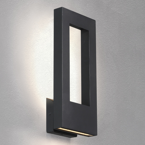 Modern Forms by WAC Lighting Modern Forms Twillight Black LED Outdoor Wall Light 3000K 729LM WS-W5516-BK