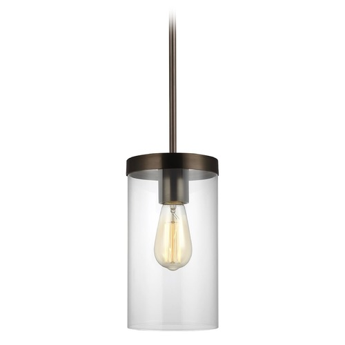 Sea Gull Lighting Sea Gull Lighting Zire Brushed Oil Rubbed Bronze Pendant Light with Cylindrical Shade 6590301-778