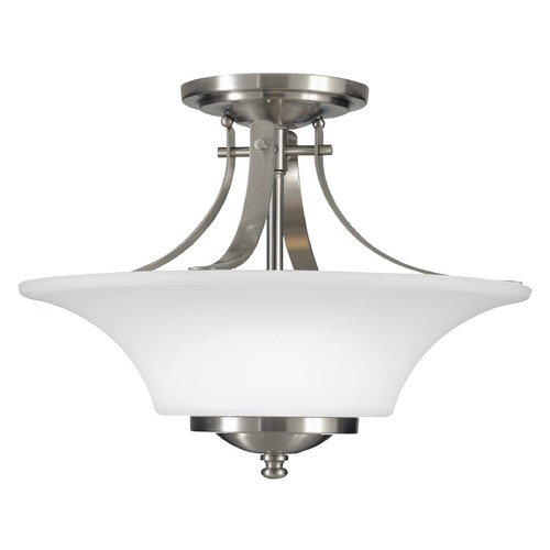 Sea Gull Lighting Sea Gull Lighting Barrington Brushed Steel LED Semi-Flushmount Light SF241EN3/BS