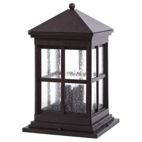 Minka Lavery Post Deck Light with Clear Glass in Rust Finish 8567-51