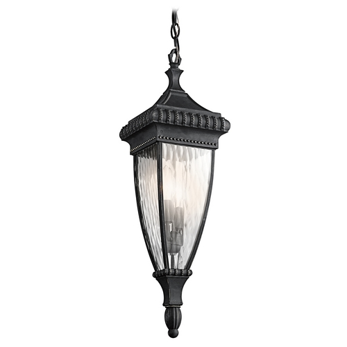 Kichler Lighting Kichler Outdoor Hanging Light with Clear Glass in Black W/gold Finish 49134BKG
