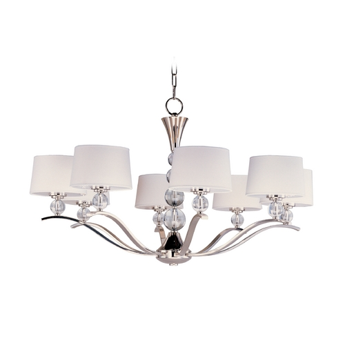 Maxim Lighting Maxim Lighting Rondo Polished Nickel Chandelier 12758WTPN