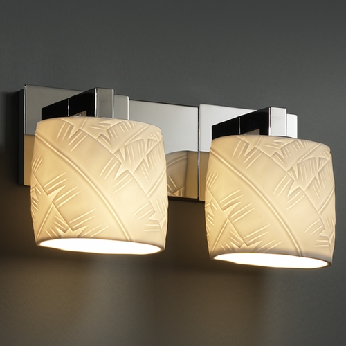 Justice Design Group Justice Design Group Limoges Collection Bathroom Light POR-8922-30-BANL-CROM