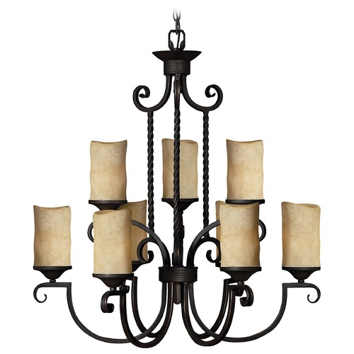 Hinkley Nine-Light Chandelier 4018OL
