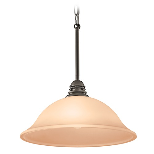 Kichler Lighting Kichler Lighting Stafford Pendant Light with Bowl / Dome Shade 42071OZW