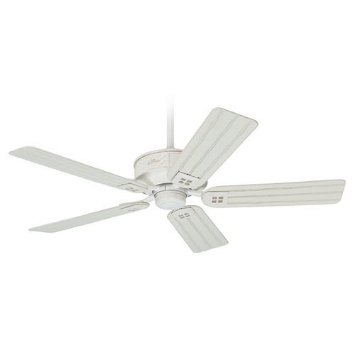 Hunter Fan Company Hunter Fan Company Orchard Park Distressed White Ceiling Fan Without Light 54068