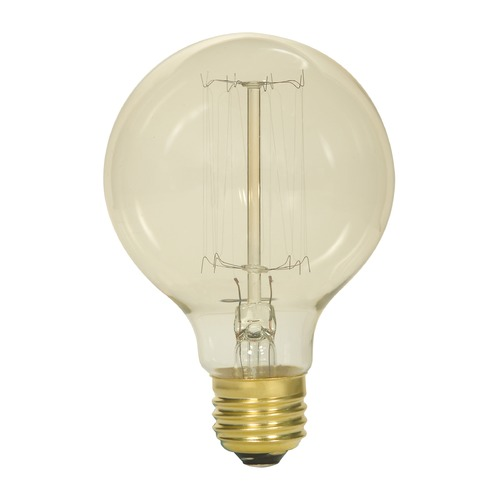 Satco Lighting Incandescent G25 Light Bulb Medium Base 2700K 120V by Satco S2425