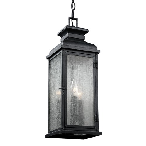 Feiss Lighting Feiss Lighting Pediment Dark Weathered Zinc Outdoor Hanging Light OL11109DWZ