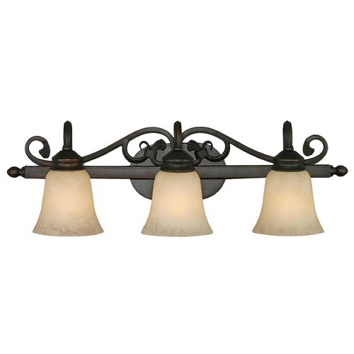 Golden Lighting Golden Lighting Belle Meade Rubbed Bronze Bathroom Light 4074-3 RBZ