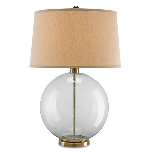 Currey and Company Lighting Currey and Company Courtland Clear/coffee Bronze Table Lamp with Empire Shade 6589