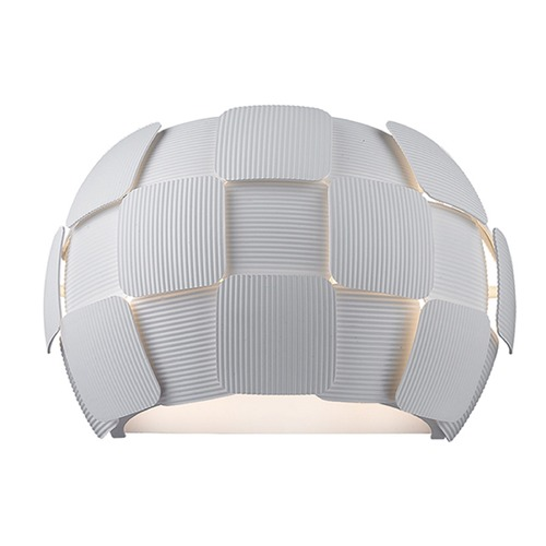 Access Lighting Access Lighting Layers White LED Sconce 50907LEDD-WH/WH