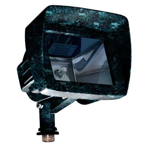 Dabmar Lighting Verde Green Cast Aluminum Directional Area Flood Light with Hood LV105-HOOD-VG