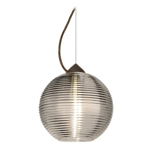 Besa Lighting Besa Lighting Kristall Bronze LED Pendant Light with Globe Shade 1KX-461602-LED-BR