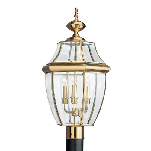 Sea Gull Lighting Sea Gull Lighting Lancaster Polished Brass LED Post Light 8239EN-02