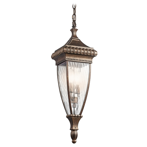 Kichler Lighting Kichler Outdoor Hanging Light with Clear Glass in Bronze Finish 49134BRZ