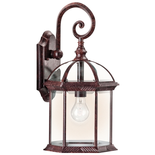 Kichler Lighting Kichler Outdoor Wall Light with Clear Glass in Tannery Bronze Finish 49186TZ