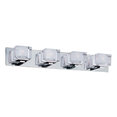 Maxim Lighting Modern Bathroom Light with Clear Glass in Polished Chrome Finish 10004CLPC