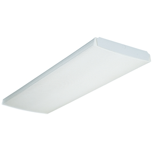 Lithonia Lighting Four-Light Fluorescent Ceiling Light LB432-120-1/4-RE