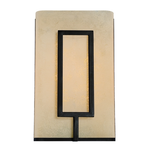 Designers Fountain Lighting LED Sconce Wall Light with Amber Glass in Burnished Bronze Finish LED6061-BNB