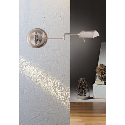 Holtkoetter Lighting Holtkoetter Swing Arm Lamp in Satin Nickel Finish 8170 SN