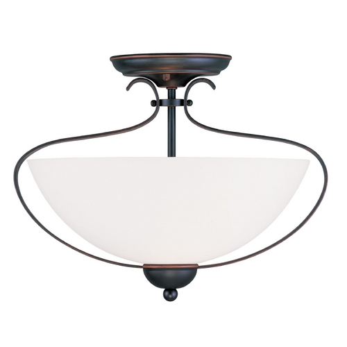 Livex Lighting Livex Lighting Brookside Olde Bronze Semi-Flushmount Light 4798-67