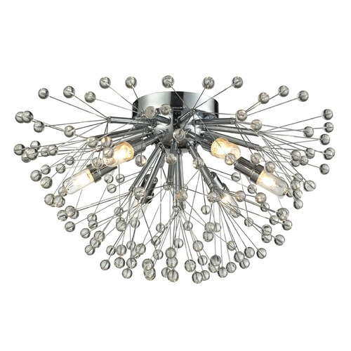 Elk Lighting Elk Lighting Starburst Polished Chrome Semi-Flushmount Light 11830/6