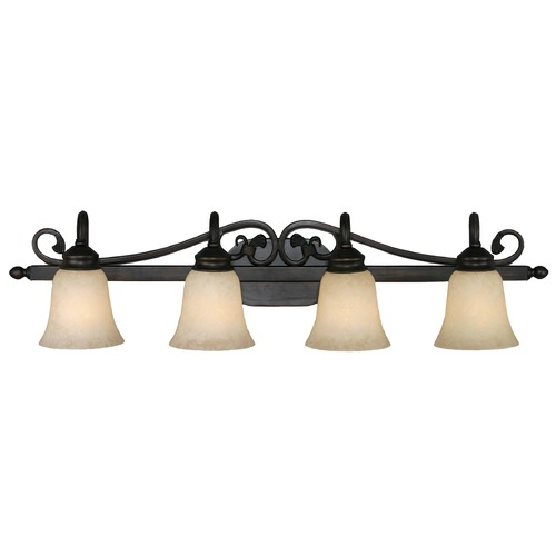 Golden Lighting Golden Lighting Belle Meade Rubbed Bronze Bathroom Light 4074-4 RBZ